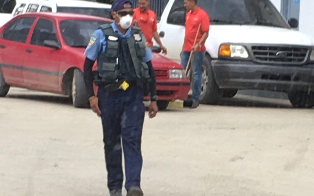 police with mask