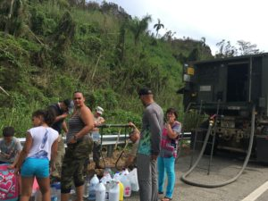 National Guard delivering water